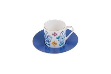 Porland Posh Tabaklı Kahve Fincanı Renkli